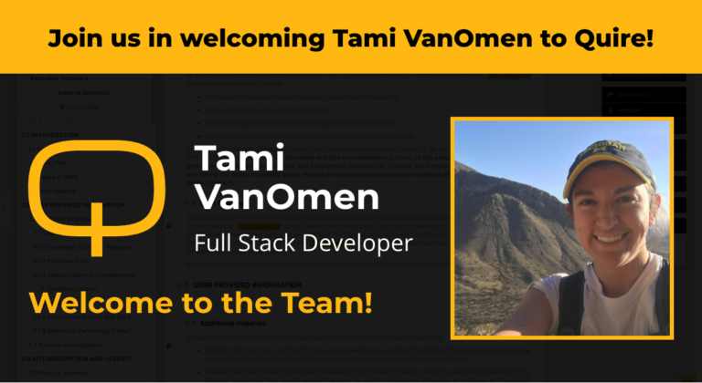 Join us in welcoming Tami VanOmen to Quire!